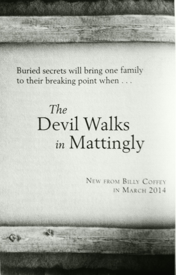 Devil Walks in Mattingly promo pic